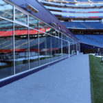 Outside at the South End Zone Club at Gillette Stadium